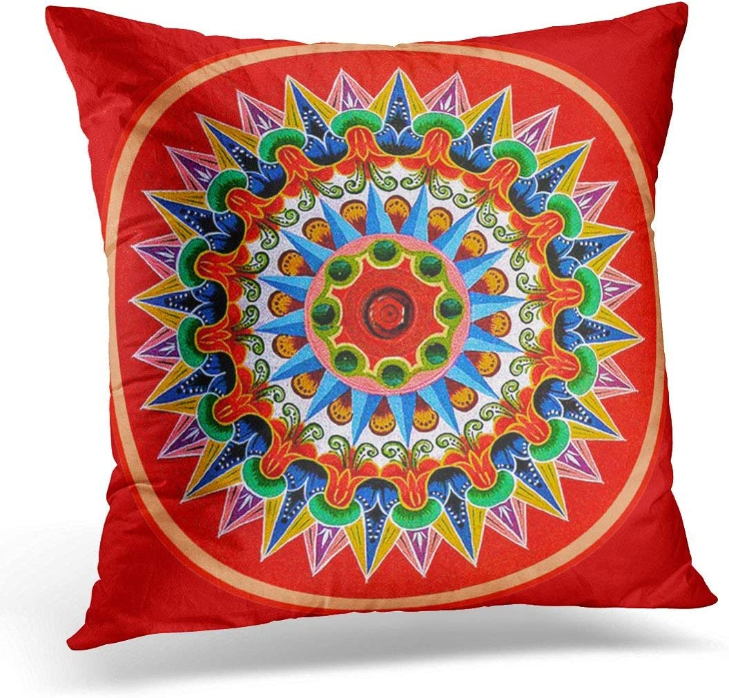 antoipyns Throw Pillow Cover-Rica Costa Rican Tradition Decorative Pillow Case Home Decor Square(18x18 Inches) Pillowcase