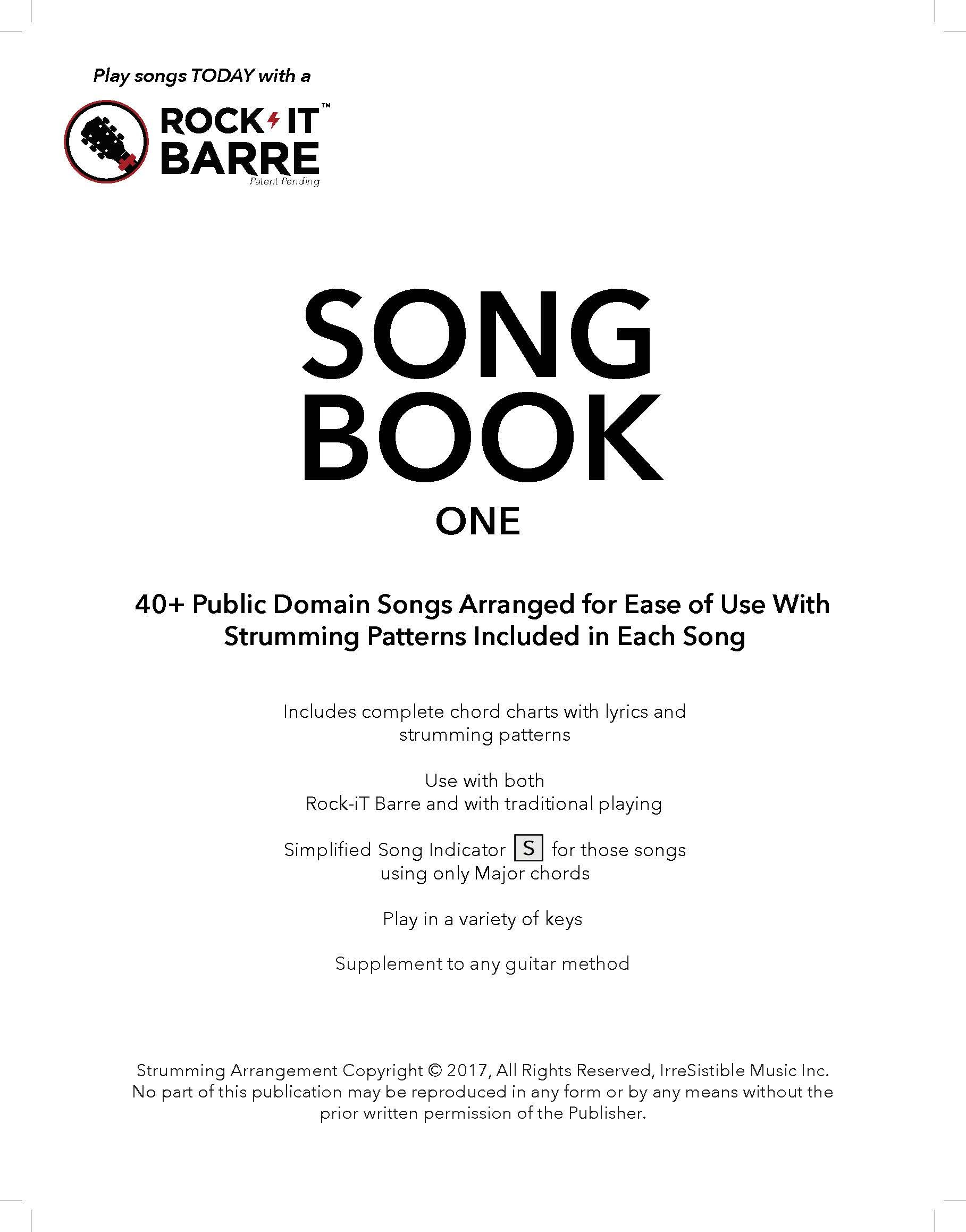 Rock It Barre Song Book One With Over 40 Public Domain Songs Using