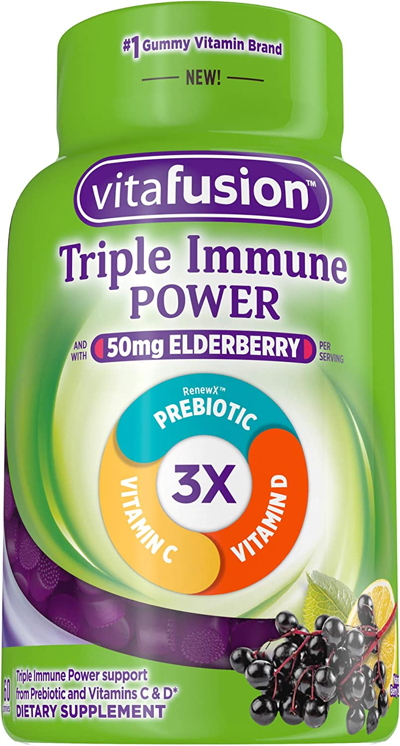 Vitafusion Triple Immune POWER Gummy Vitamins, 60 count