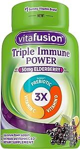Vitafusion Triple Immune POWER Gummy Vitamins, 60 count