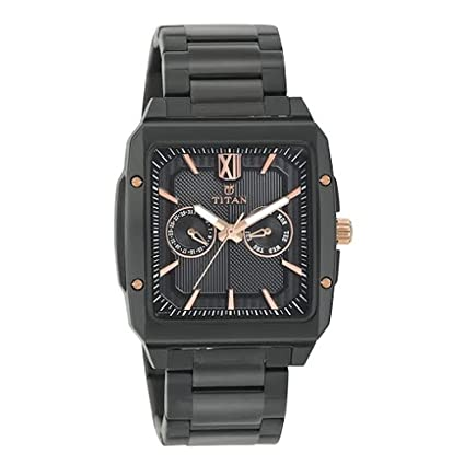 Titan Analog Black Dial Men's Watch-1689KM02 Men at amazon