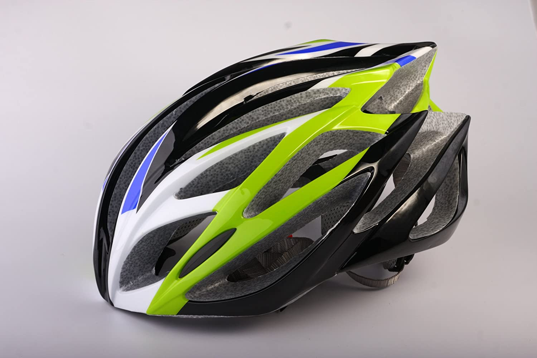 HAOXUAN Casco Casco De Equitación Transpirable Ligero Moldeo Un Sólido Casco De Bicicleta Casco De Seguridad Patinaje De Velocidad, Verde-Negro De Los ...