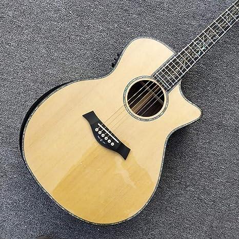 Guitarra acústica clásica, parte superior sólida de abulón real ...