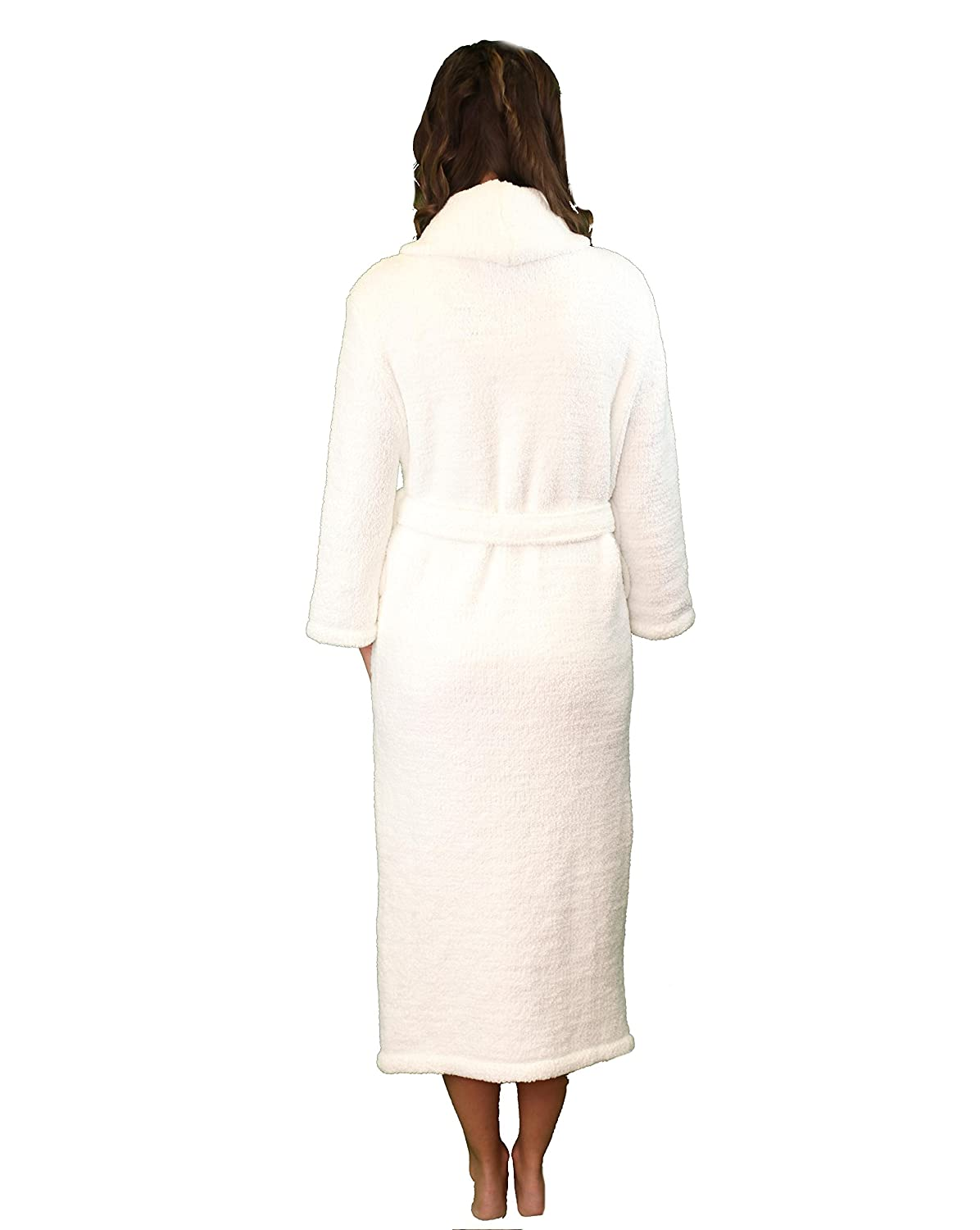 Plush Tresaro Chenille Bathrobe Warm /& Cozy Microfiber Robe Perfect for Women and Men Super-soft