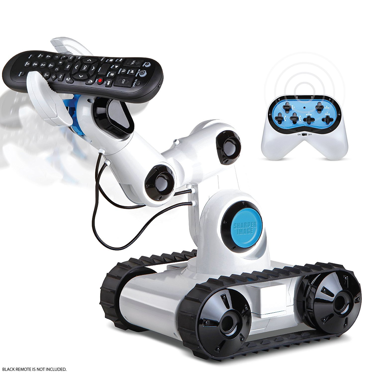 SHARPER IMAGE Full Function Wireless Control Robotic Arm Toy with Built-in LED Spotlight Jumbo Claw Grip & Tank Tread Wheels, 2.4GHz Long Range Battery-Operated RC, Best STEM Gift for Boys & Girls by Sharper Image (Image #1)