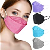 KF94 Face Mask Individual Packed, Disposable Colored Mask for Women Men, 4 ply Filtered Form Fitting Folded Protective Mask f