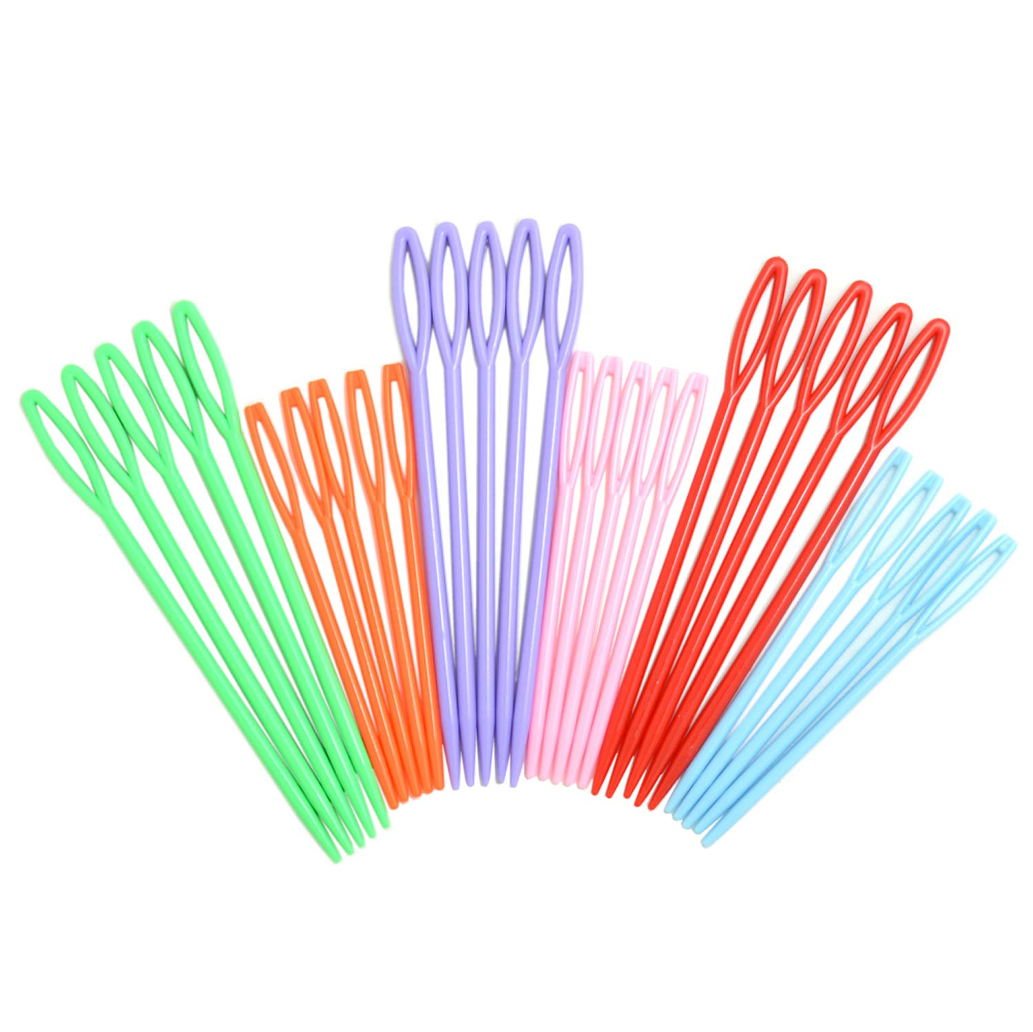 30pcs Colorful Large Eye Plastic Sewing Needles for kid Weave Education BoNaYuanDa 4336926154