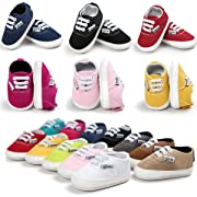 Meckior Infant Baby Boys Girls Canvas Toddler Sneaker Anti-Slip First Walkers Candy Shoes (0-6 Months, B-Blue)