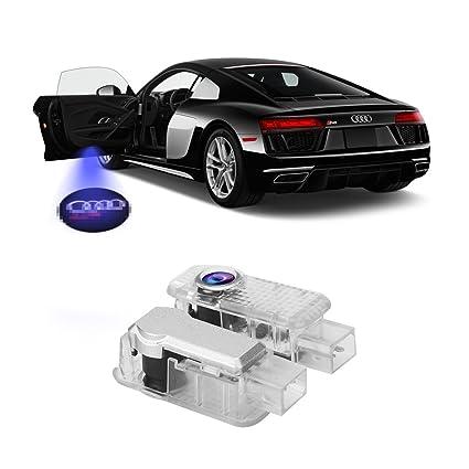 2pcs puerta del coche iluminación LED proyector de entrada láser cortesía bienvenida lámpara sombra del logotipo luz para puerta del coche decorativo