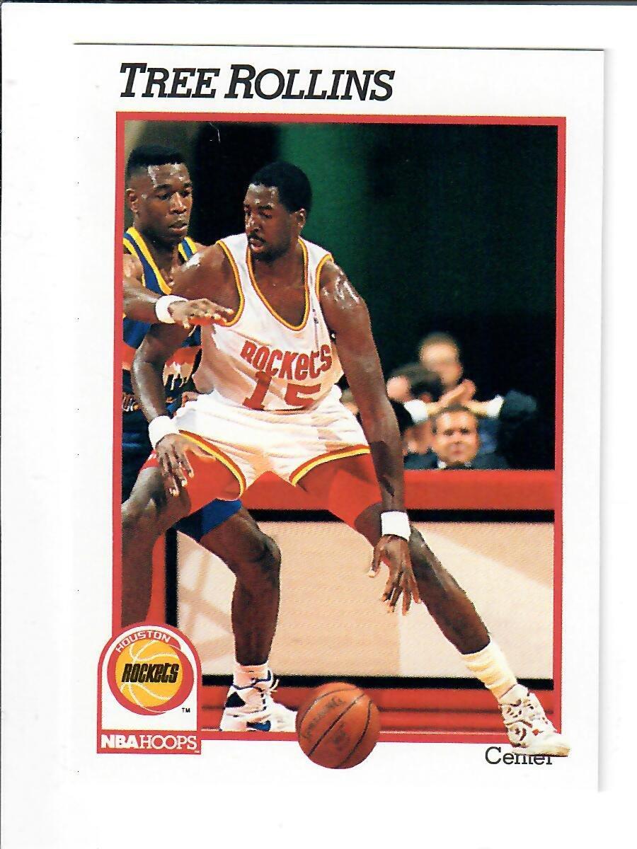 1991 NBA Hoops 371 Tree Rollins Basketball Card 6 at
