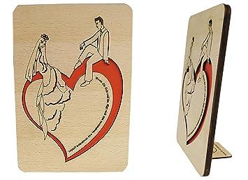 Lin Holzkarten Grusskarten Aus Holz Hochzeitskarten Mit Spruch