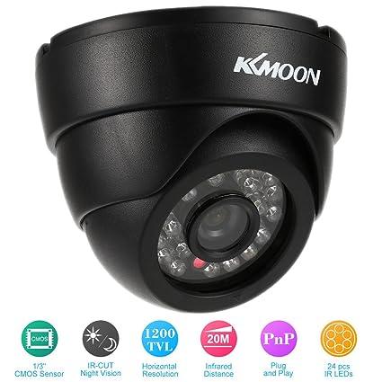 """KKmoon HD 1200TVL Cámara de Vigilancia en Domo 1/3"""" CMOS IR-CUT"""