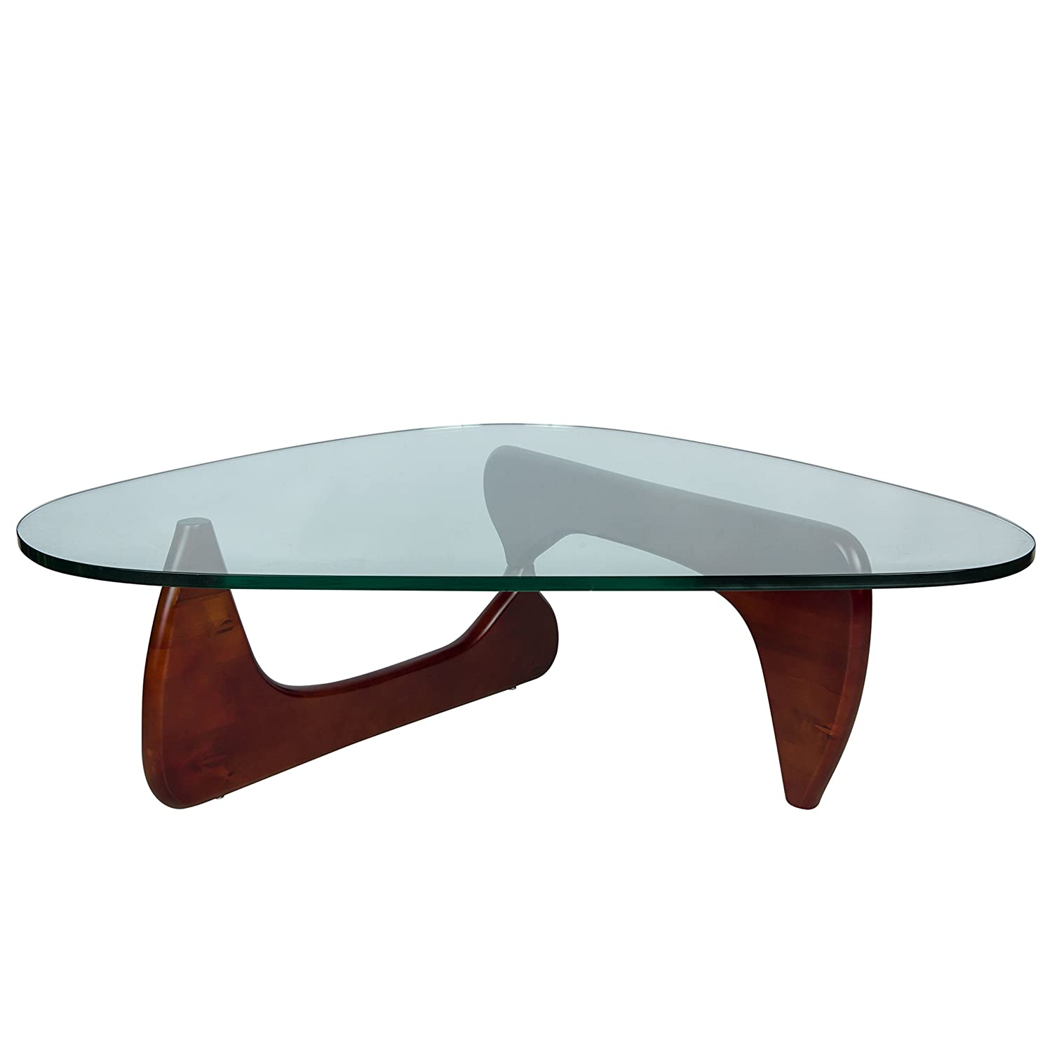 Amazon LeisureMod Imperial Glass Top Triangle Coffee Table