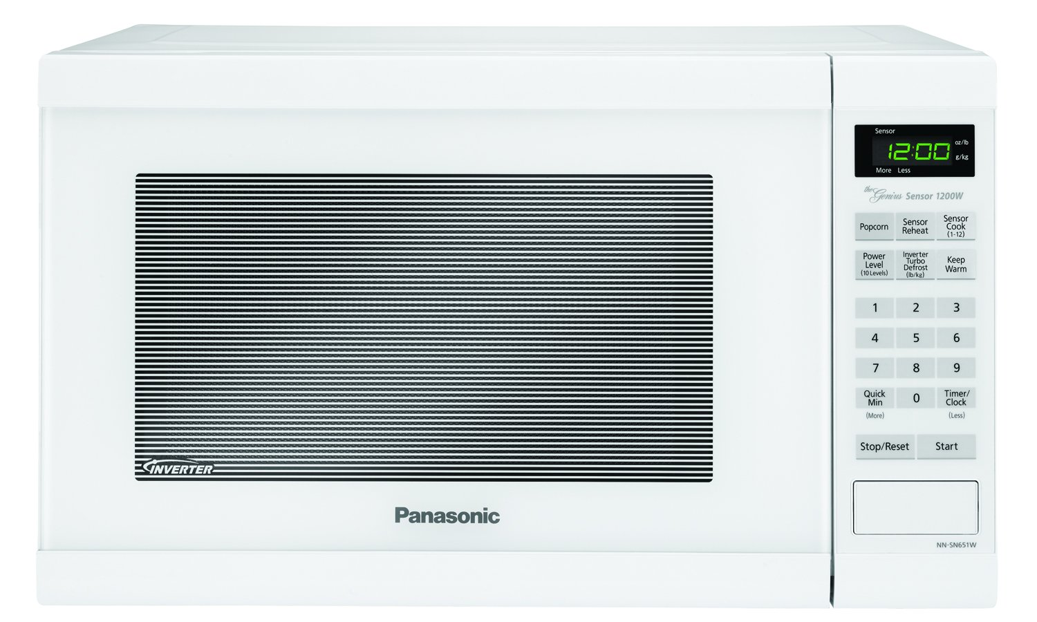 Panasonic NN-SN651B Countertop Microwave with Inverter Technology, 1.2 cu. ft, Black