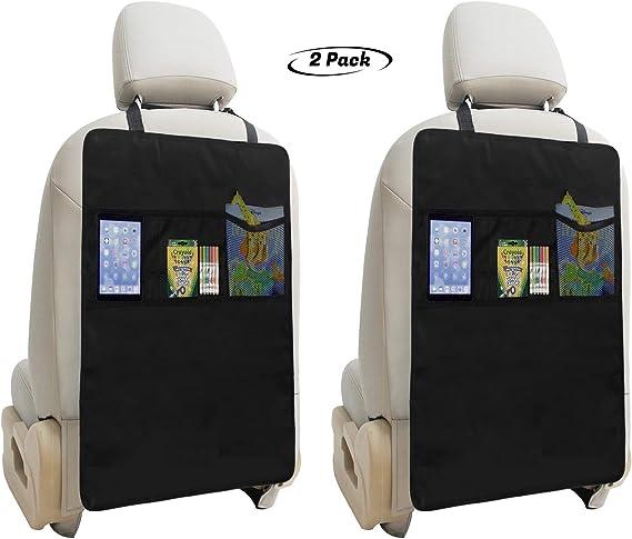 Lebogner Kick Mat Auto Seat Back Protectors + 3 Organizer Pockets