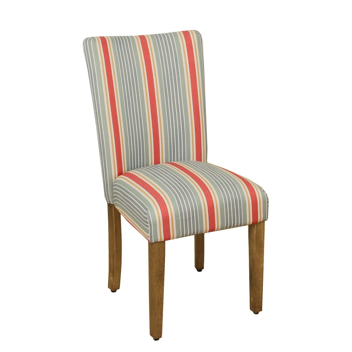 Amazon.com: Kinfine Parsons Woven Stripe Dining Chair, Coral: Kitchen U0026  Dining