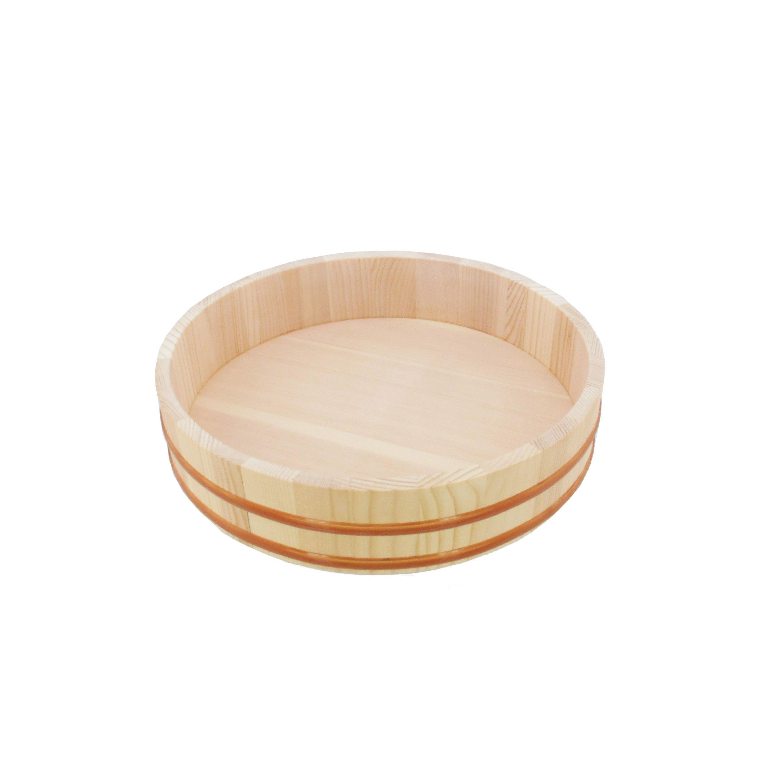 """BambooMN 13"""" Hangiri Sushi Oke Rice Mixing Tub, 1 Piece"""
