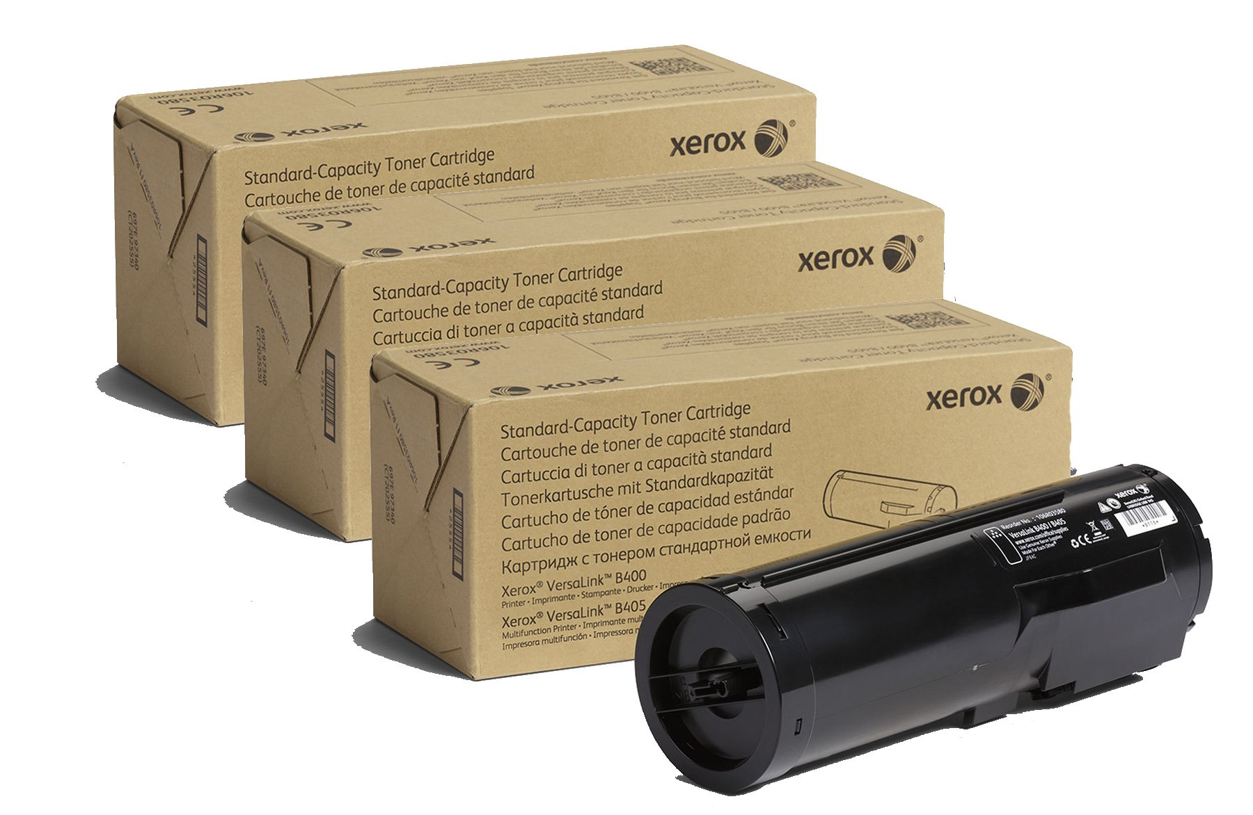 Toner Original XEROX106R03580 Black Standard Capacidad – 5900 Páginas para Usar con VersaLink B400/B405 – 3 Pack