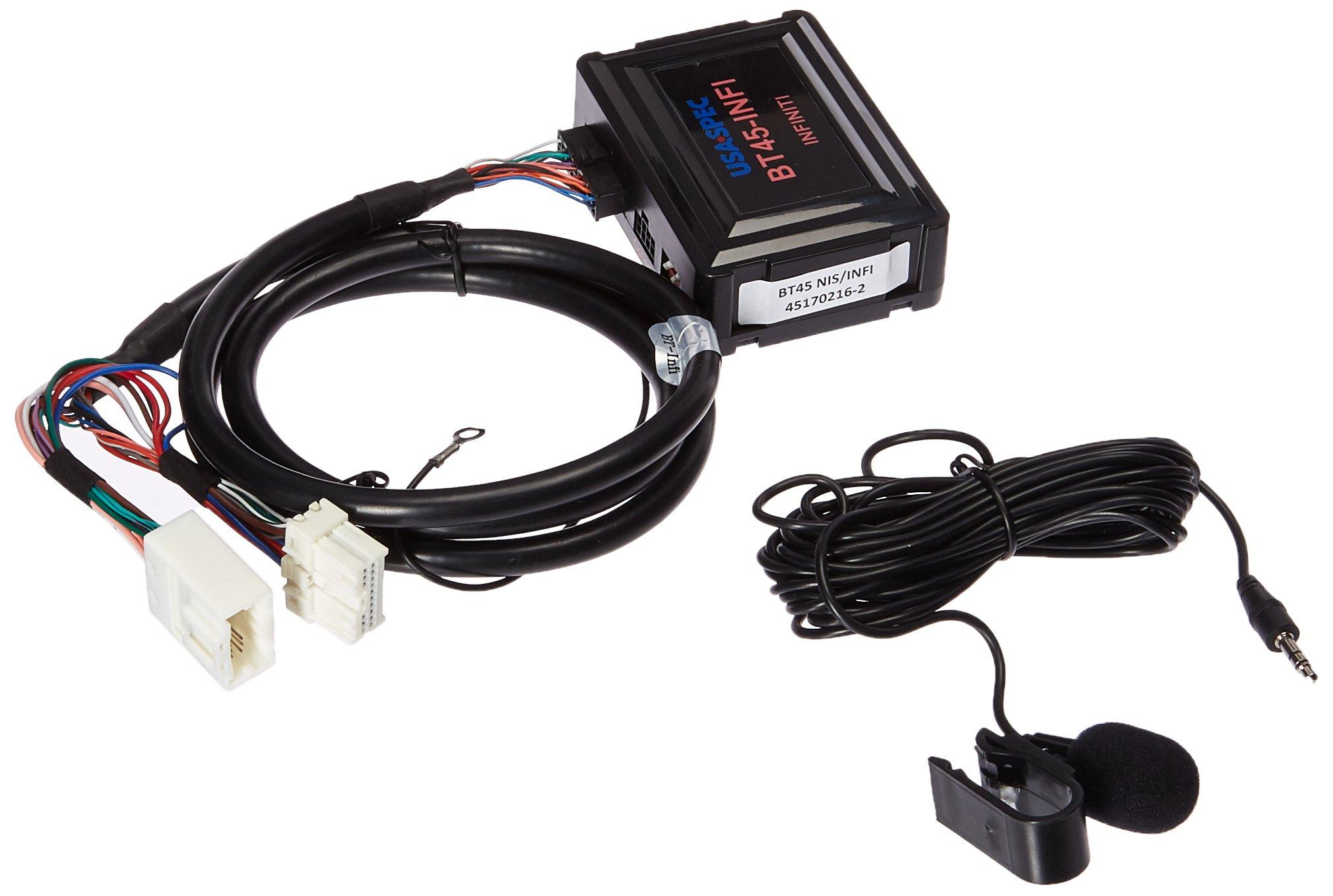 USA SPEC BT45-INFI Bluetooth Phone, Music & AUX Input Kit for Select 2003-2012 Infiniti Nissan Models