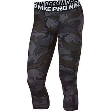 916e5511f5a22 Amazon.com: Nike Men's Pro 3/4 Length Camo Compression Tights: Clothing