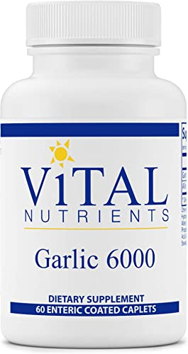 Vital Nutrients – Garlic 6000 – Cardiovascular, Immune, and Cholesterol Level Support – 60 Enteric Coated Capsules per Bottle