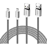 SCGK 3 m High Charging Speed USB 2.0 A Male to Micro Nylon Braided Cords Cable with Aluminium Connectors for Android, Samsung Galaxy S6 S7 Nexus HTC, LG Power Bank and More -2 Pack
