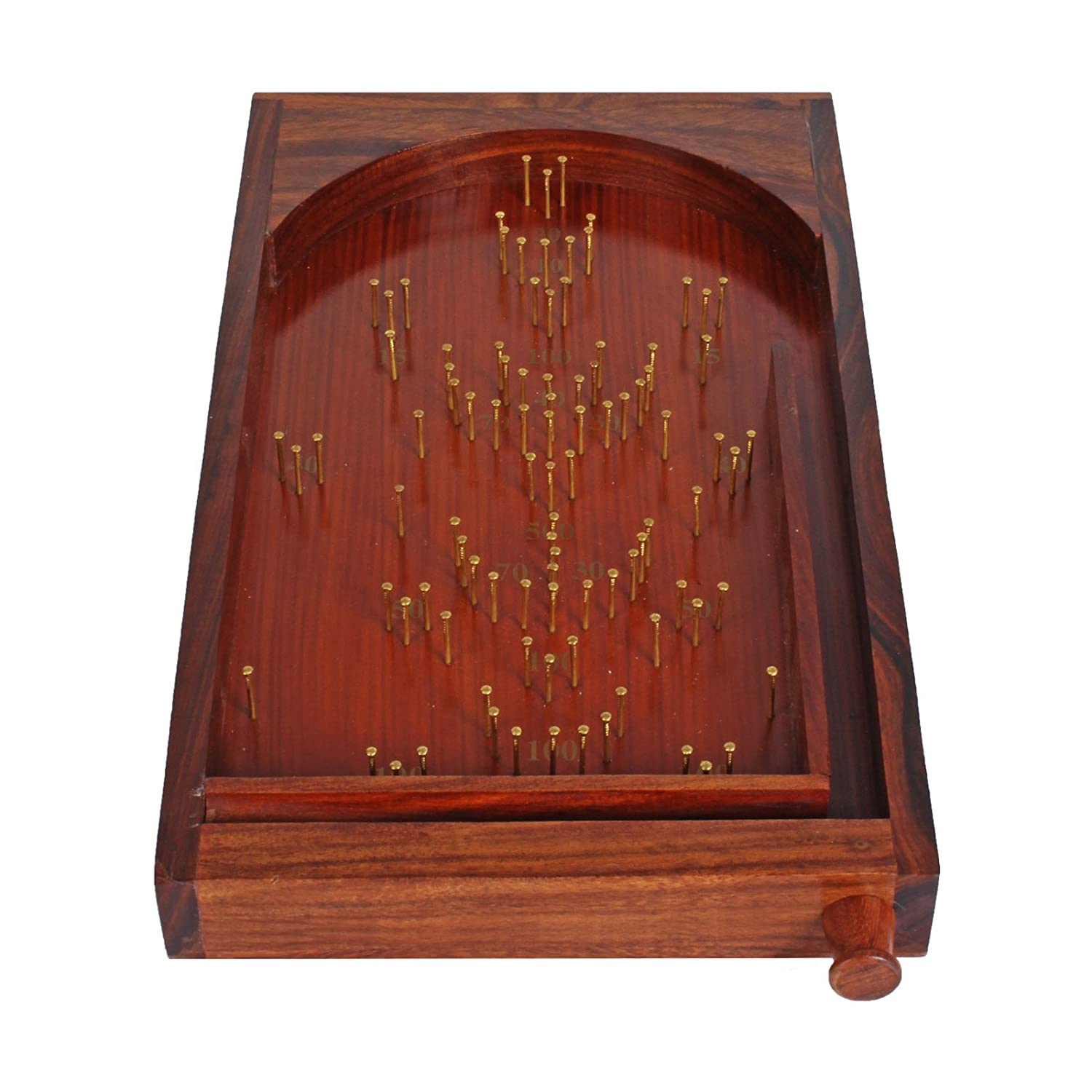 Wooden Bagatelle Table Game Pinball Family Gift