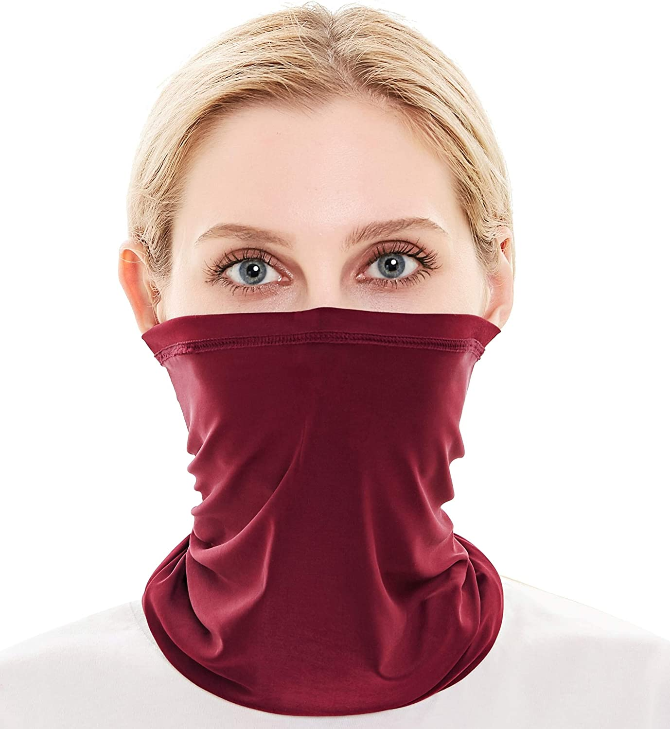 Neck Gaiter Face Cover Scarf Gator Face Mask for Cold Wind Dust - Reusable Balaclava Bandana for Men Women - 10 Ways to Wear