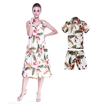 beb9033d3 Buy Hawaii Hangover Hawaii Hangover Matching Mother Son Hawaiian Luau Outfit  Melani Dress Shirt in Cream Rafelsia Women Online at Low Prices in India ...