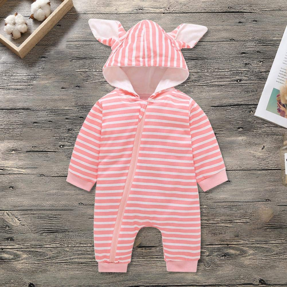 Amazingdeal Newborn Baby Cotton Spring Infants Stripe Rompers Fashion Toddler Jumpsuit