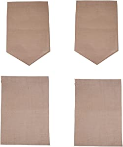 BLHEM DIY Burlap Garden Flag (Pack of 4)-Blank Burlap Garden Flag DIY Yard Outdoor Signs Garden Decoration (18 X 12 Inch, Triangle+Square)