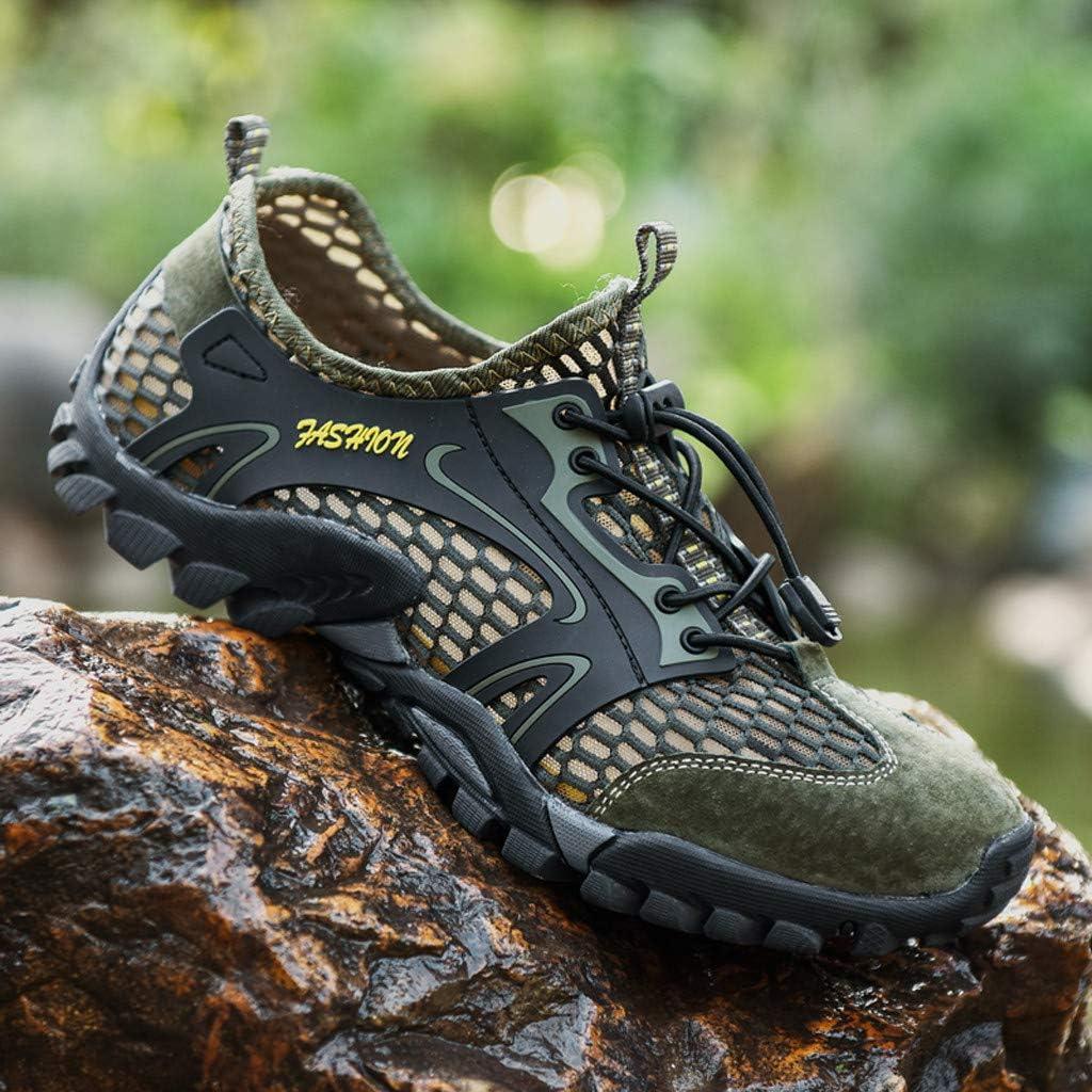 KAIXLIONLY Mens Summer Water Shoes Sports Quick Dry Barefoot Diving Swim Surf Aqua Walking Beach Yoga Shoes
