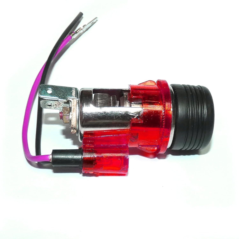 A1 Rosso Presa Accendisigari & Rosso Illuminato universale 12 V 12 Volt camion auto nuovo