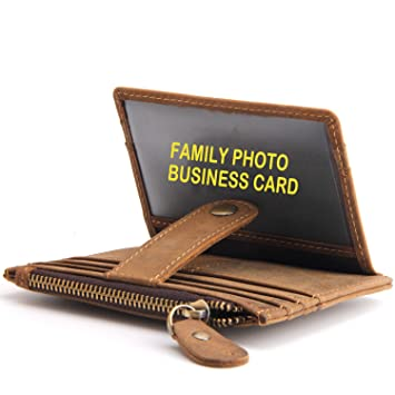 af81209af Cartera de bolsillo frontal delgada, Cartera de tarjeta de crédito para  hombre, Cartera de