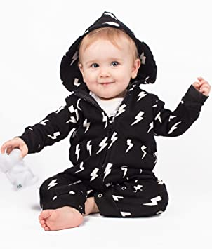 Baby Moo s Trendy Monochrome Lightning Baby   Toddler All In One Romper  (1-2 years)  Amazon.co.uk  Baby 78b608f7f