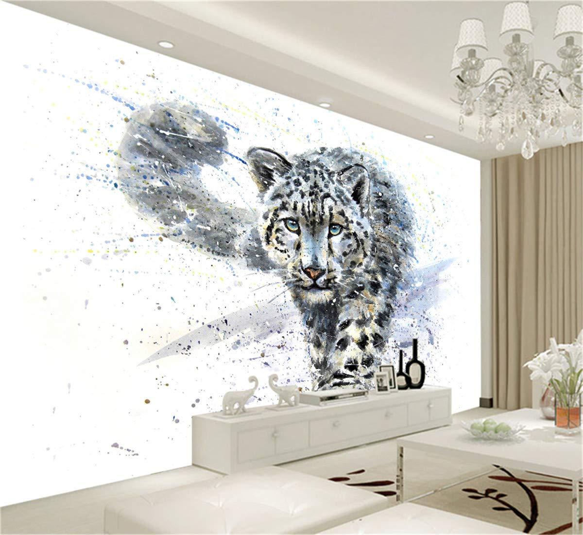 3D Kreative Kunstdrucke Bilder Blaue Augen Leopard Tiger Leinwand Ölgemälde Ölgemälde Ölgemälde Tapete Schwarz Und Weiß Tier Poster Home Deco, 300 cm X 210 cm c3e5b2