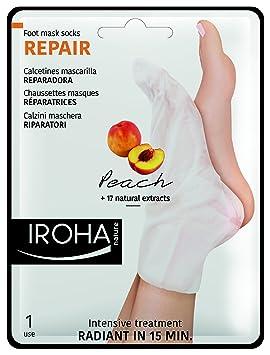Iroha Reparación - Calcetines mascarilla reparadoras, melocotón, paquete de 2: Amazon.es: Belleza
