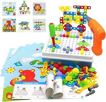 Akokie Juguetes Montessori Puzzles Rompecabezas Bloques Construccion Niños con Taladros Juegos Educativos Regalos Juguetes para Niños 3 4 5 6 7 años 223 Pcs: Amazon.es: Juguetes y juegos