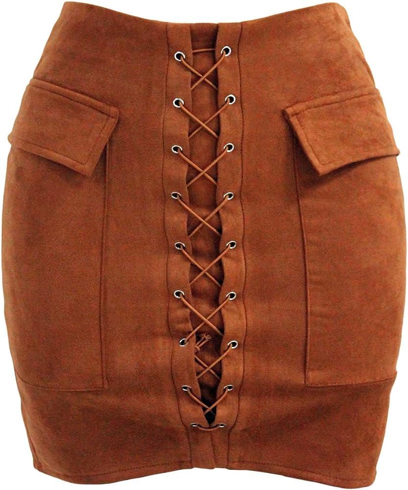 Pertul Ltd. - Falda - para mujer Marrón marrón X-Small: Amazon.es ...