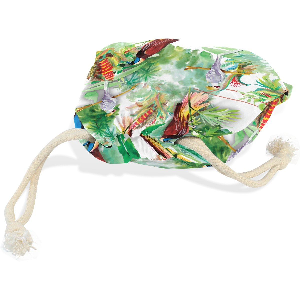 Dragon Sword Watercolor Wild Exotic Birds Flowers Gift Bags Jewelry Drawstring Pouches for Wedding Party, 6x8 Inch by Dragon Sword (Image #3)