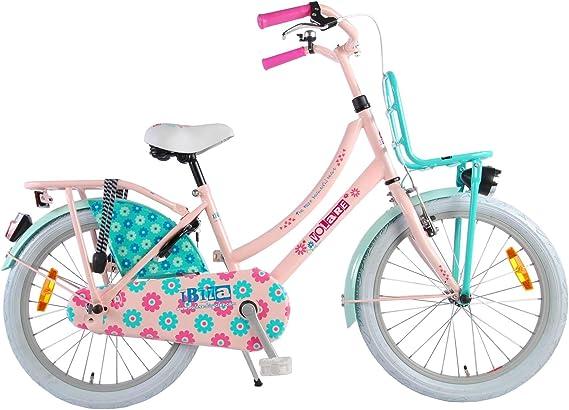 Ibiza Bicicleta Niña 20 Pulgadas Freno Delantero al Manillar y Trasero Contropedal Portabultos Azul Rosa 95% Montado: Amazon.es: Deportes y aire libre