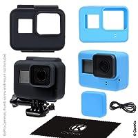 GoPro 5Noir Coque de silicone–Lot de 2–Noir (cadre)/bleu (Caméra)