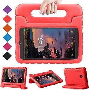 BMOUO Kids Case for T-Mobile Alcatel 3T 8 Tablet 2018/Alcatel A30 Tablet 8 2017, Lightweight Kid-Proof Handle Stand Case for Alcatel 3T 8 Tablet 2018 / Alcatel A30 8 inch 2017 - Red