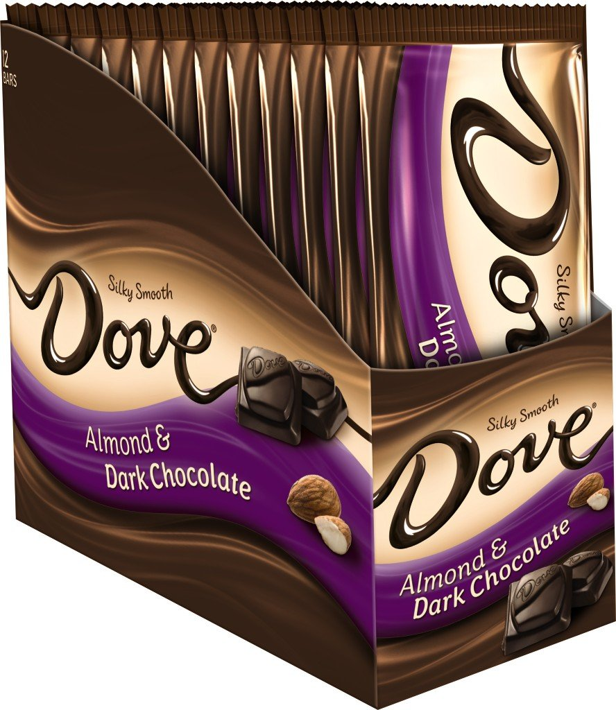 Amazon.com : DOVE Dark Chocolate Almond Sharing Size Candy Bar ...