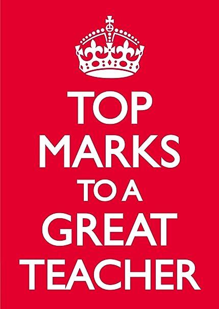 Top marcas para un gran maestro tarjeta de felicitación de ...