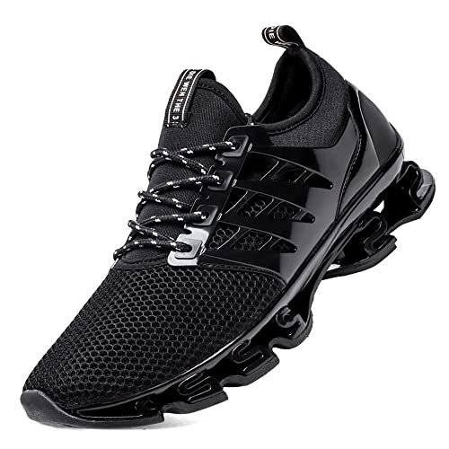 0dd2498395ce3 FOVSMO Men's Blade Sneakers Mesh Breathable Fashion Sports Casual Walking  Running Shoes