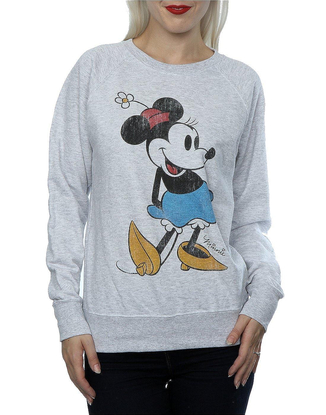 01dd40e16a1 Amazon.com  Disney Women s Classic Minnie Mouse Sweatshirt  Clothing