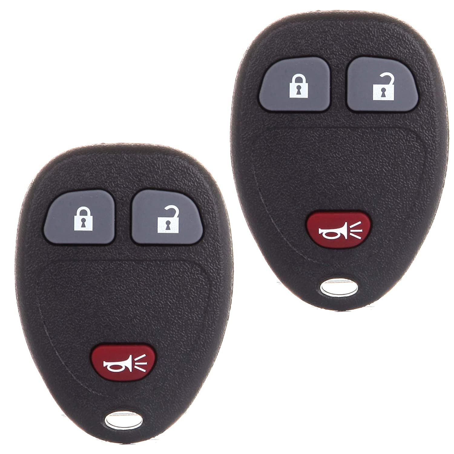 SCITOO Replacement fit for 2X 3 Buttons Keyless Entry Remote Key Fob Chevy Saturn GMC Pontiac Buick Cadillac Suzuki Series OUC60270