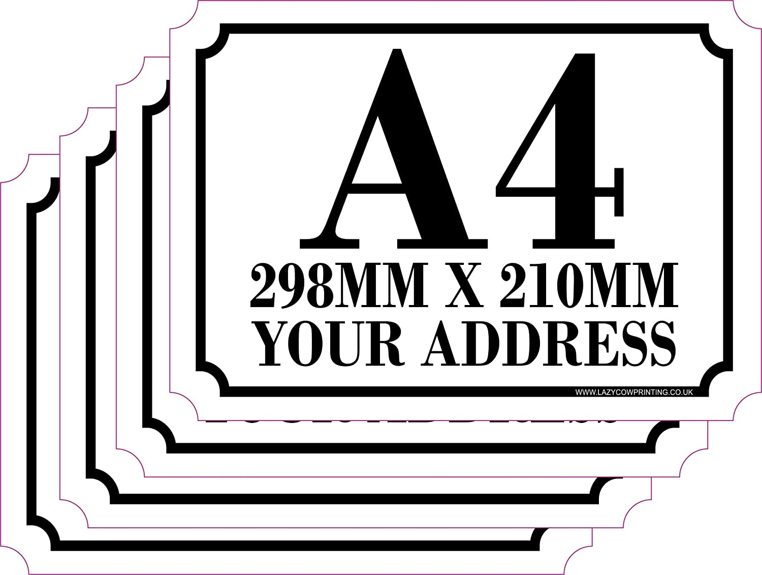 The lazy cow personalised printed wheelie bin number stickers with number and road name a4 vinyl waste container decals set of 4 1 a4 custom bin