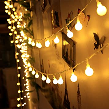 Amazon.com : 100 LED Indoor String Lights 37.7 Feet Warm White ...